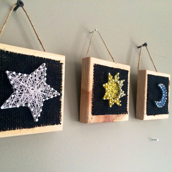 Sun, moon and star home decor!