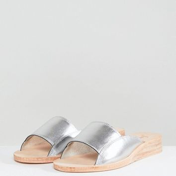 Free People Day Bird Metallic Sandals at asos.com
