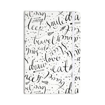 "MaJoBV ""Life Must-dos / Black"" White Everything Notebook"