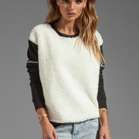Pencey Fur Front Sweatshirt in Black from REVOLVEclothing.com