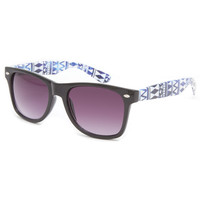 Blue Crown Galaxy Geometric Sunglasses Black/Multi One Size For Men 23114296901