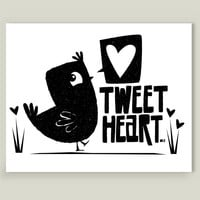 Tweet Heart Art Print by michaelaschuett on BoomBoomPrints