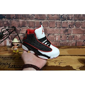 Kids Air Jordan 13 Retro White/black/red Sneaker Shoe Size Us 11c 3y