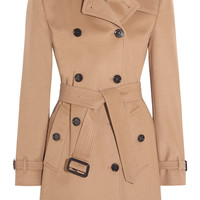 Burberry London - The Kensington Mid wool and cashmere-blend felt trench coat