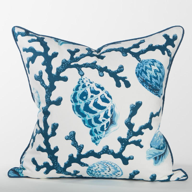 Casuarina Coral Pillow (Navy) - Newport from Coastal Style Gifts