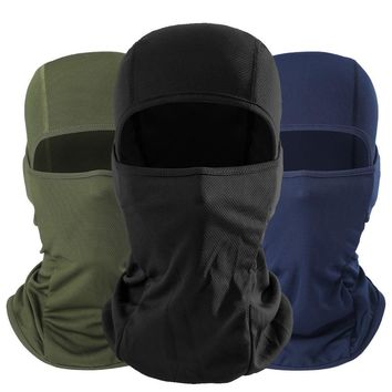 Balaclava Multicam Breathable Tactical Paintball Airsoft Head Hat Bicycle Army UV Protection Helmet Full Face Mask