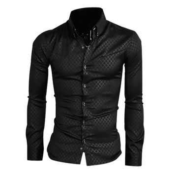 2016 New Fashion Mens Stripes Dress Shirts Casual Slim Long sleeve Shirts Fit Social Camisas Masculinas for Man Chemise homme