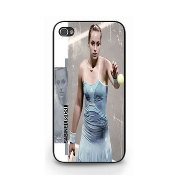 New Hot Sabine Lisicki Pro Tennis Player iPhone 4 4S / iPhone 5 Hard Case Cover