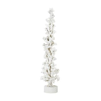Ekwok Wood Sculpture White