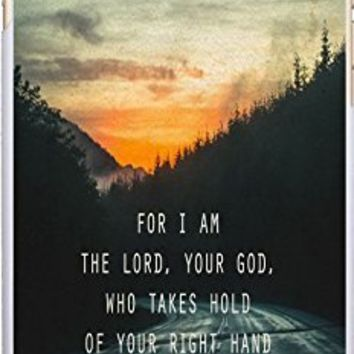 Case For Iphone 6 Christian Theme,Apple Iphone 6S Case Bible Verses Quotes For I Am The Lord,Your God Who Takes Hold Of Your Right Hand And Says To You, Do Not Fear Isaiah 41:13