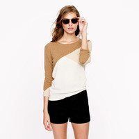 Collection cashmere button-back sweater in colorblock - Pullover - Women's sweaters - J.Crew