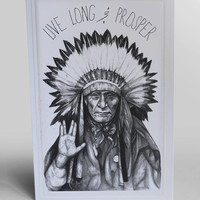 Live Long & Prosper Blank Greeting Card by BluegrinCo on Etsy