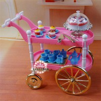 New Arrival Miniature Furniture Cake Car for Barbie Doll House Classic Toys for Girl Free Shipping