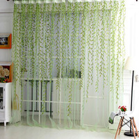 Home Textile Tree Willow Curtains Blinds Voile Tulle Room Curtain Sheer Panel Drapes for bedroom living room kitchen cortinas
