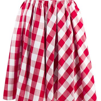 Atomic Classic Red Plaid Skater Skirt