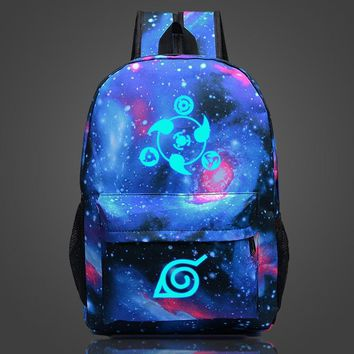 Naruto Sasauke ninja Anime  Sharingan Luminous Backpack School Backpack Women Men Travel Backpack Laptop Backpack Teens Anime  School Bag AT_81_8