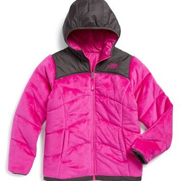 The North Face Girl's 'Perseus' Water Repellent Heatseeker Insulated Hooded Reversible Jacket,
