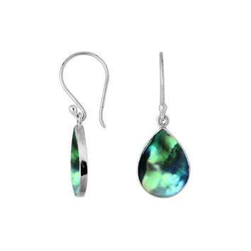 AE-6209-AB Sterling Silver Earring With Abalone Shell