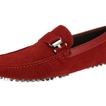 Salvatore Exte Men's Suede Leather Driving Shoe Michael Slip-On Loafer