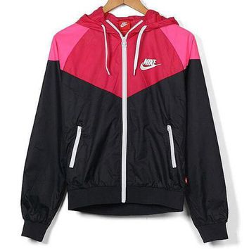 Nike Popular Unisex Leisure Print Zipper Hoodie Cardigan Sweatshirt Jacket Coat Windbreaker Sportswear I