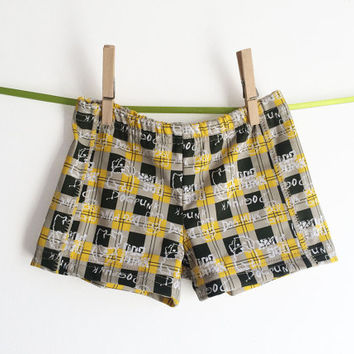 Retro Toddler Swim trunks, swimsuit for boys, Hipster Swimshorts, Ready to Ship Sizes 1T 2T 3-4T PunkDog European handmade