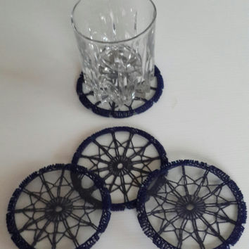 crochet coaster decorative lace coaster handmade lace coaster crochet lace coaster gift housewarming mother's day gift glass coaster
