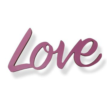"""LOVE"" Birch Wooden Sign Photo Prop -  PRWDLOVE01"