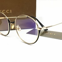 Gucci Classic Vintage Round Mirror Brand Designer Sunglasses Metal Lady Circle Retro UV400 Women Or Men  Sun Glasses Rays Victory [2974244572]