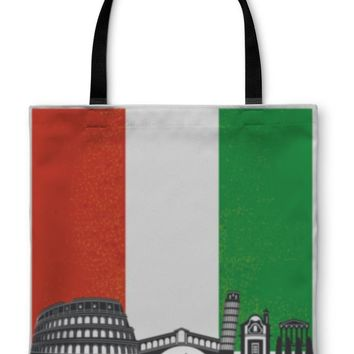 Tote Bag, Italy With Flag