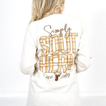 Simply Southern Love Deerly Long Sleeve- Ivory