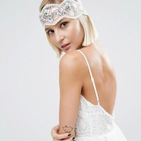ASOS WEDDING Vintage Jewel Mesh Headband at asos.com
