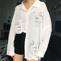 "Hand Drawn ""Portrait"" Shirt"