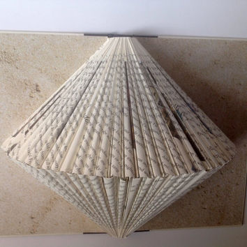 Clam shell folded book art, folded pages, recycled, upcycled, repurposed