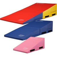 "We Sell Mats Gymnastics Folding Incline Cheese Wedge Skill Shape Tumbling Mat (Rainbow, 60""(Long) x 30""(Wide) x 15""(High) - Folding)"