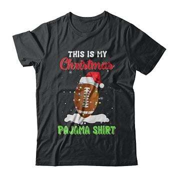 This Is My Christmas Pajama Xmas Football Santa