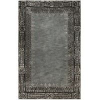Henna Black and Gray Area Rug