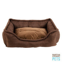 Martha Stewart Pets Linen Bolster Dog Bed