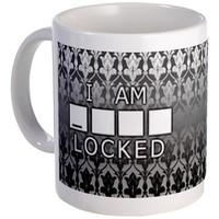 I am Sherlocked Black/White Mug on CafePress.com
