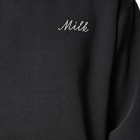John Galt Milk Cropped Crew Neck Sweatshirt at PacSun.com