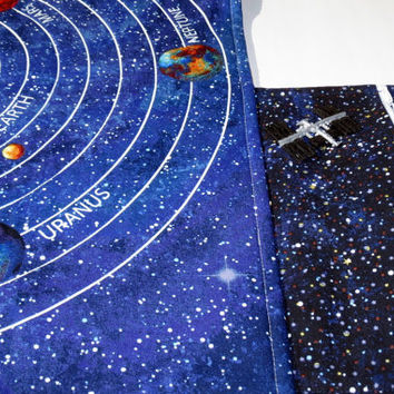 Toy, Children's play mat, play mat, travel toy, solar system, space toy, astronauts, outer space, children, toddler, kids, fabric,