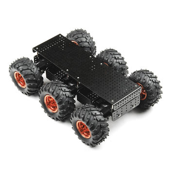 Wild Thumper 6WD Chassis - Black (34:1 gear ratio) - ROB-11056 - SparkFun Electronics