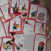 vintage Rien Poortvliet gnome dutch Quartet card game