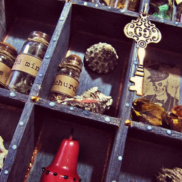 Voodoo Shadow Box - Boho Decor - Curiosities Display - Papa Legba Miniature Altar - New Orleans Voodoo Magic - In Stock