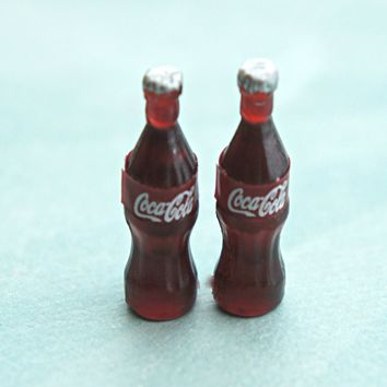 coke bottle earrings
