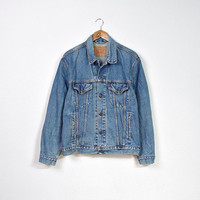 90s LEVI'S 70503 02 Denim Jacket / Levi's Strauss Trucker Jacket / Man Size L