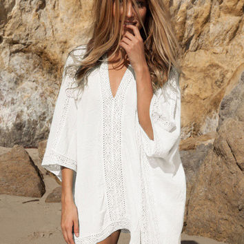 Embroidered Beach or Pool Cover-Up