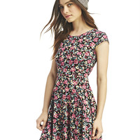 Floral Skater Dress | Wet Seal