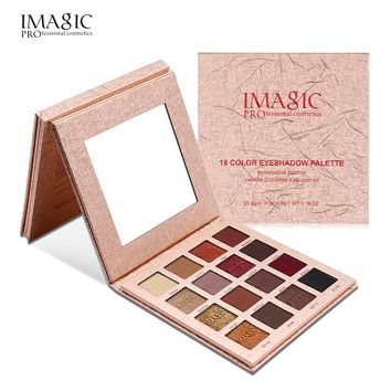 Brand Shimmer Matte Eyeshadow Palette Makeup IMAGIC Natural Waterproof Nude Color Pigments Glitter Minerals Eye Shadow Cosmetics