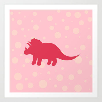 Triceratops Dino Art Print by LookHUMAN