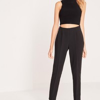 Missguided - Crepe Pants Black